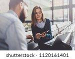 teamwork concept.young creative ... | Shutterstock . vector #1120161401