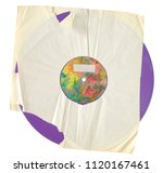 old vinyl record  isolated on... | Shutterstock . vector #1120167461