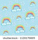 cute seamless pattern with... | Shutterstock .eps vector #1120170005