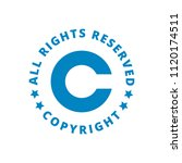 copyright all rights reserved... | Shutterstock .eps vector #1120174511