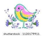 Cute Bird Vector Illustration