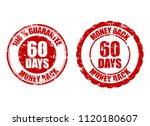 money back guarantee 60 days... | Shutterstock .eps vector #1120180607