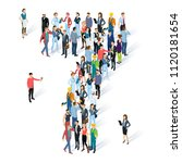 crowded isometric people vector ... | Shutterstock .eps vector #1120181654