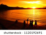 sunset to the sea   there are... | Shutterstock . vector #1120192691