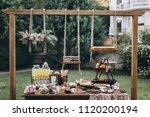 Stock photo wedding candy bar 1120200194