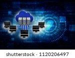 3d rendering cloud computing | Shutterstock . vector #1120206497