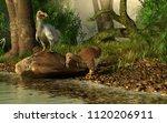 a couple of dodo birds  one... | Shutterstock . vector #1120206911