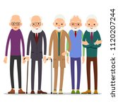 group of old people. older man... | Shutterstock . vector #1120207244