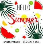 hello summer.  poster design... | Shutterstock .eps vector #1120216151