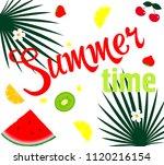 hello summer.  poster design... | Shutterstock .eps vector #1120216154