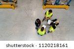 people in warehouse | Shutterstock . vector #1120218161
