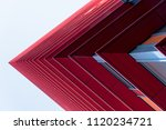 detail of a red skyscrapers in... | Shutterstock . vector #1120234721