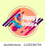 happy friday  vector beautiful... | Shutterstock .eps vector #1120236734