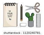 vector flat cartoon drawing  ...   Shutterstock .eps vector #1120240781