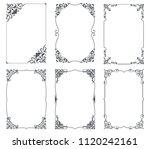 floral vintage frames for cards ... | Shutterstock .eps vector #1120242161