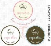 cupcake set | Shutterstock .eps vector #112024259