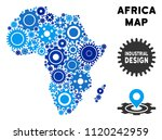 industrial africa map collage...   Shutterstock .eps vector #1120242959