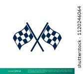 race flag icon vector logo... | Shutterstock .eps vector #1120246064