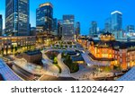 tokyo station at twilight time. ... | Shutterstock . vector #1120246427