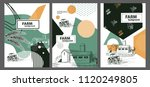 agricultural brochure layout...   Shutterstock .eps vector #1120249805