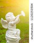 White Cupid Sculpture Trumpet...