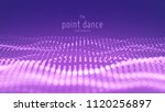 vector abstract particle wave ... | Shutterstock .eps vector #1120256897