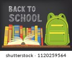 back to school. green school... | Shutterstock .eps vector #1120259564