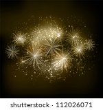 vector fireworks background | Shutterstock .eps vector #112026071