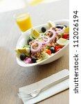 healthy food salad with... | Shutterstock . vector #112026194