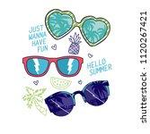 summer symbol t shirt design... | Shutterstock .eps vector #1120267421