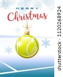 merry christmas. sports... | Shutterstock .eps vector #1120268924