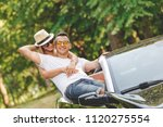 young fashionable couple in... | Shutterstock . vector #1120275554