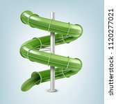 vector illustration of 3d screw ... | Shutterstock .eps vector #1120277021