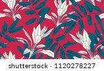 botanical seamless pattern ... | Shutterstock .eps vector #1120278227