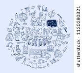 beautiful hand drawn set of... | Shutterstock .eps vector #1120280321