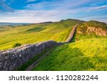 roman wall near caw gap  or... | Shutterstock . vector #1120282244