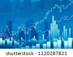stock market or forex trading... | Shutterstock . vector #1120287821