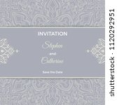 save the date invitation card... | Shutterstock .eps vector #1120292951