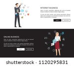 internet business collection... | Shutterstock .eps vector #1120295831