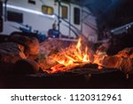 camping with my hun  | Shutterstock . vector #1120312961