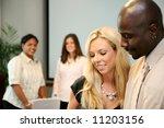 business team in an office...   Shutterstock . vector #11203156