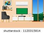 inside interior view of living... | Shutterstock .eps vector #1120315814