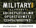 military stencil font on... | Shutterstock .eps vector #1120319555