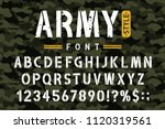 military stencil font on... | Shutterstock .eps vector #1120319561