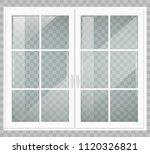 classic wooden window or double ...   Shutterstock .eps vector #1120326821