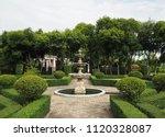 the fountain in the garden | Shutterstock . vector #1120328087