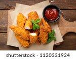 delicious crispy fried breaded... | Shutterstock . vector #1120331924