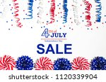 4th of july sale with holiday...