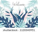 tropical jungle summer... | Shutterstock .eps vector #1120343951