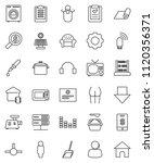 thin line vector icon set  ... | Shutterstock .eps vector #1120356371